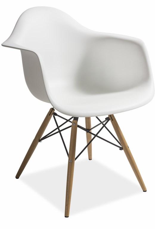 Jedálenská stolička MONDI biela