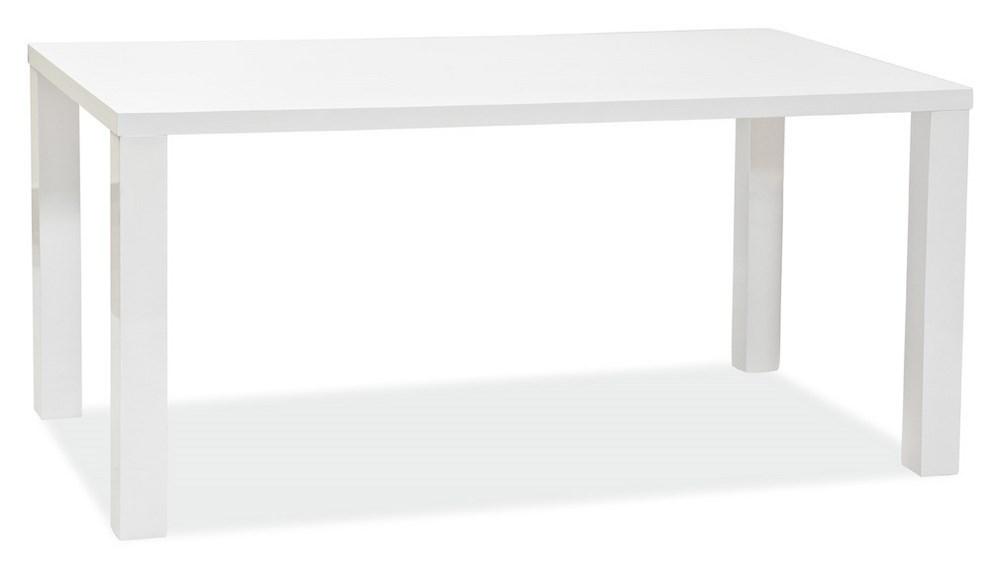 Jedálenský stôl MONTEGO 160x90 cm biela lesk