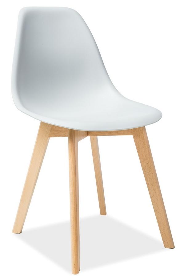 Jedálenská stolička MORIS světle šedá/buk