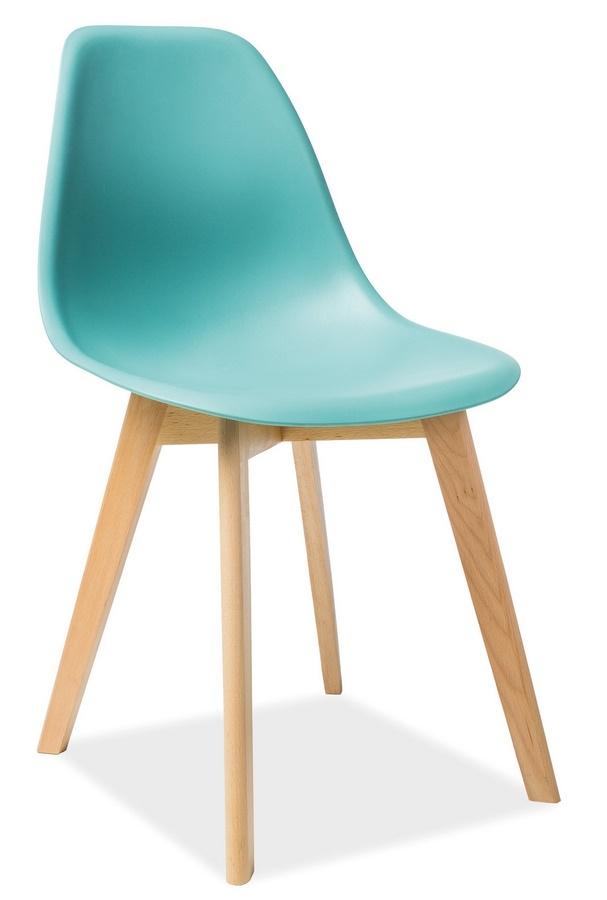 Jedálenská stolička MORIS mentolová/buk