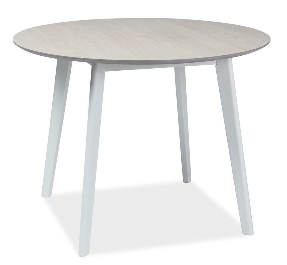 Jedálenský stôl MOSSO II 100 dub bieleny/biela
