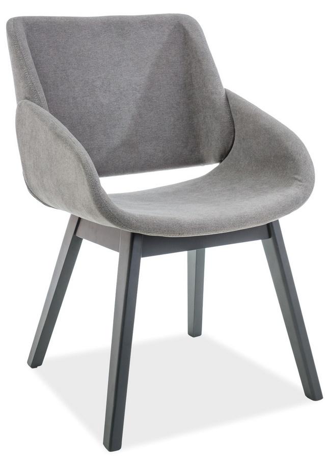 Jedálenská čalúnená stolička NEST šedá/grafit