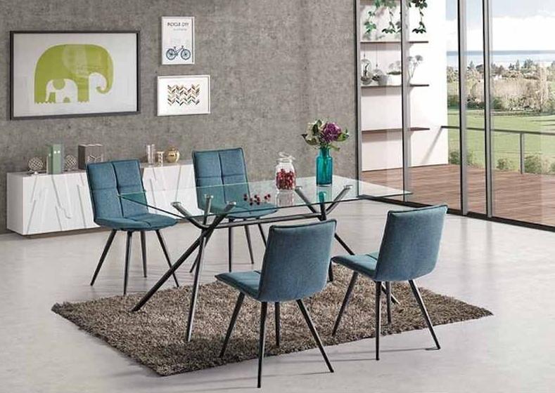 Jedálenská čalúnená stolička DARIO šedá