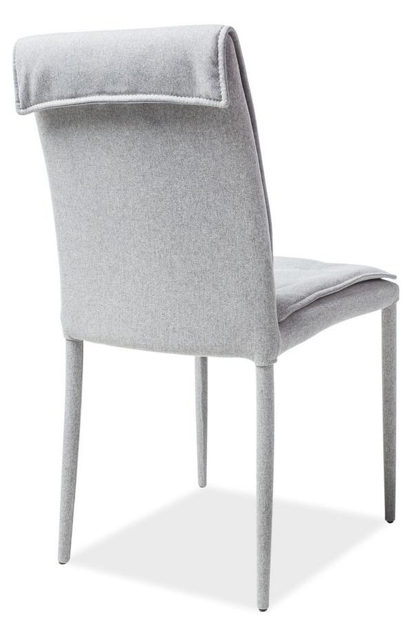 Jedálenská čalúnená stolička NIDO šedá