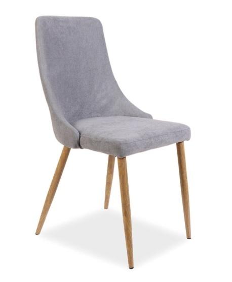 Jedálenská čalúnená stolička NOBEL šedá