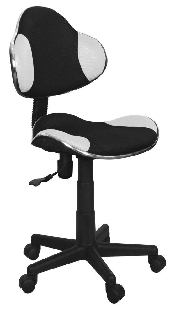 Kancelárska stolička Q-G2 čierna/biela