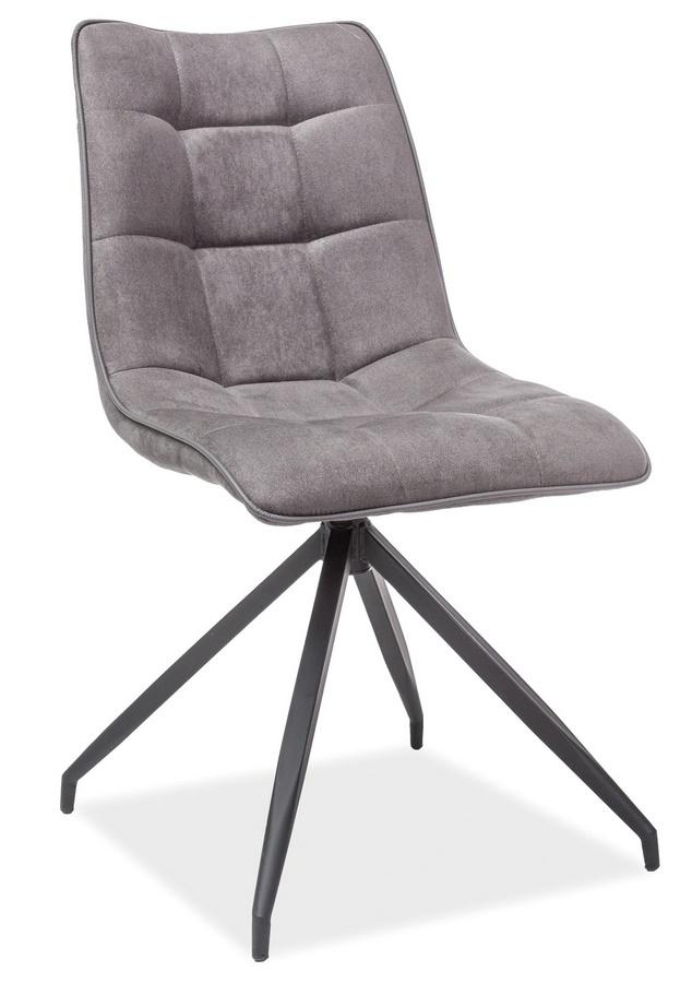 Jedálenská čalúnená stolička OLAF šedá látka