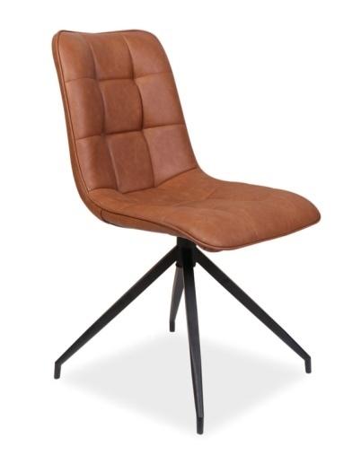 Jedálenská čalúnená stolička OLAF hnedá