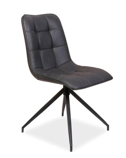 Jedálenská čalúnená stolička OLAF šedá