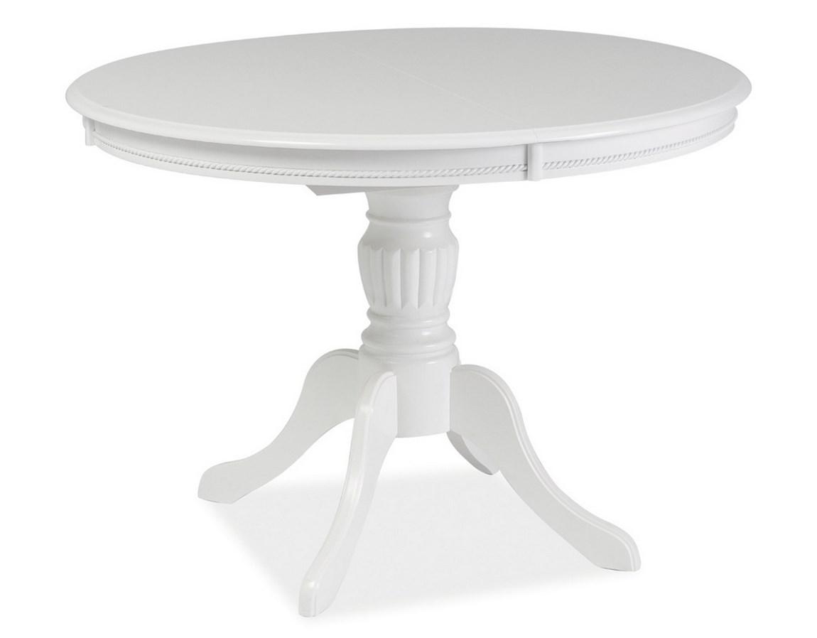 Jedálenský stôl OLIVIA rozkladací biela