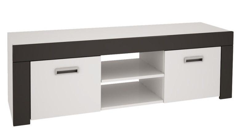 TV stolík ONTARIO 60 biela lesk/grafit