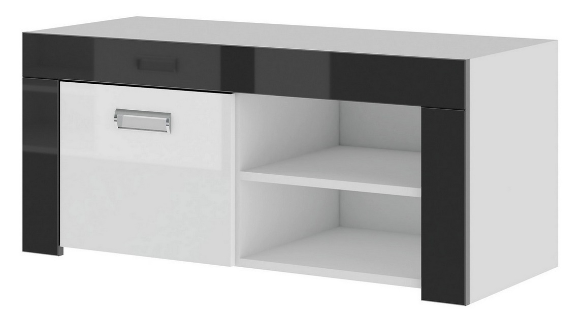 TV stolík ONTARIO 61 biela lesk/grafit