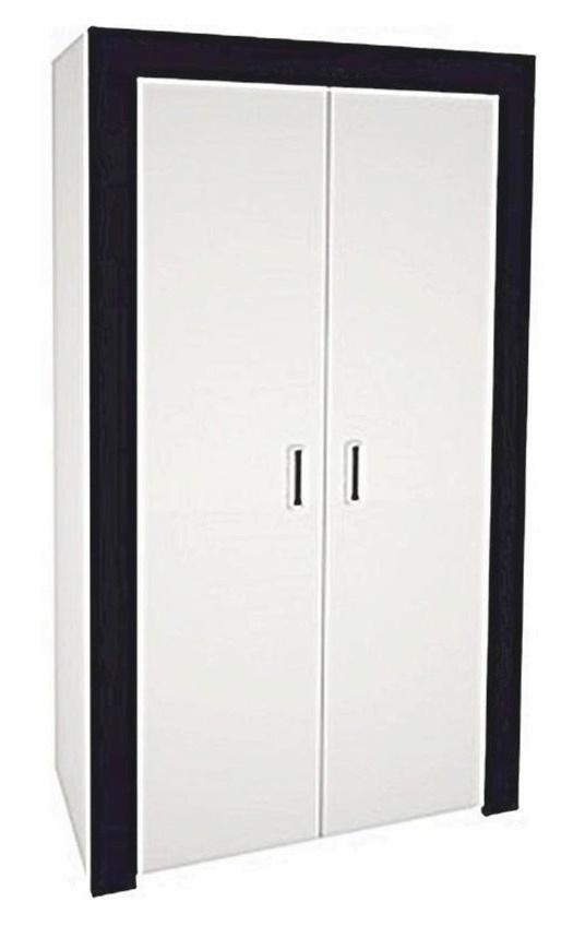 šatníková skriňa ONTARIO 70 biela lesk/grafit