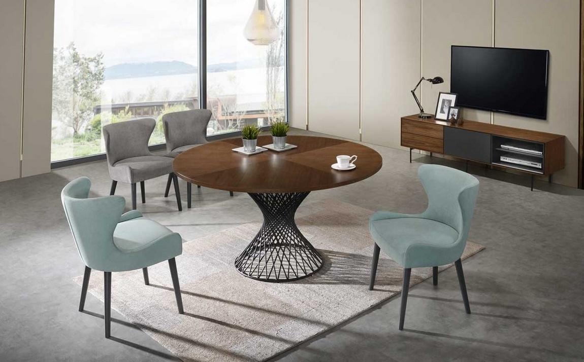 Jedálenský stôl ORLANDO orech/čierna