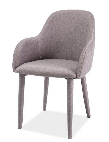 Jedálenská čalúnená stolička OSCAR šedá