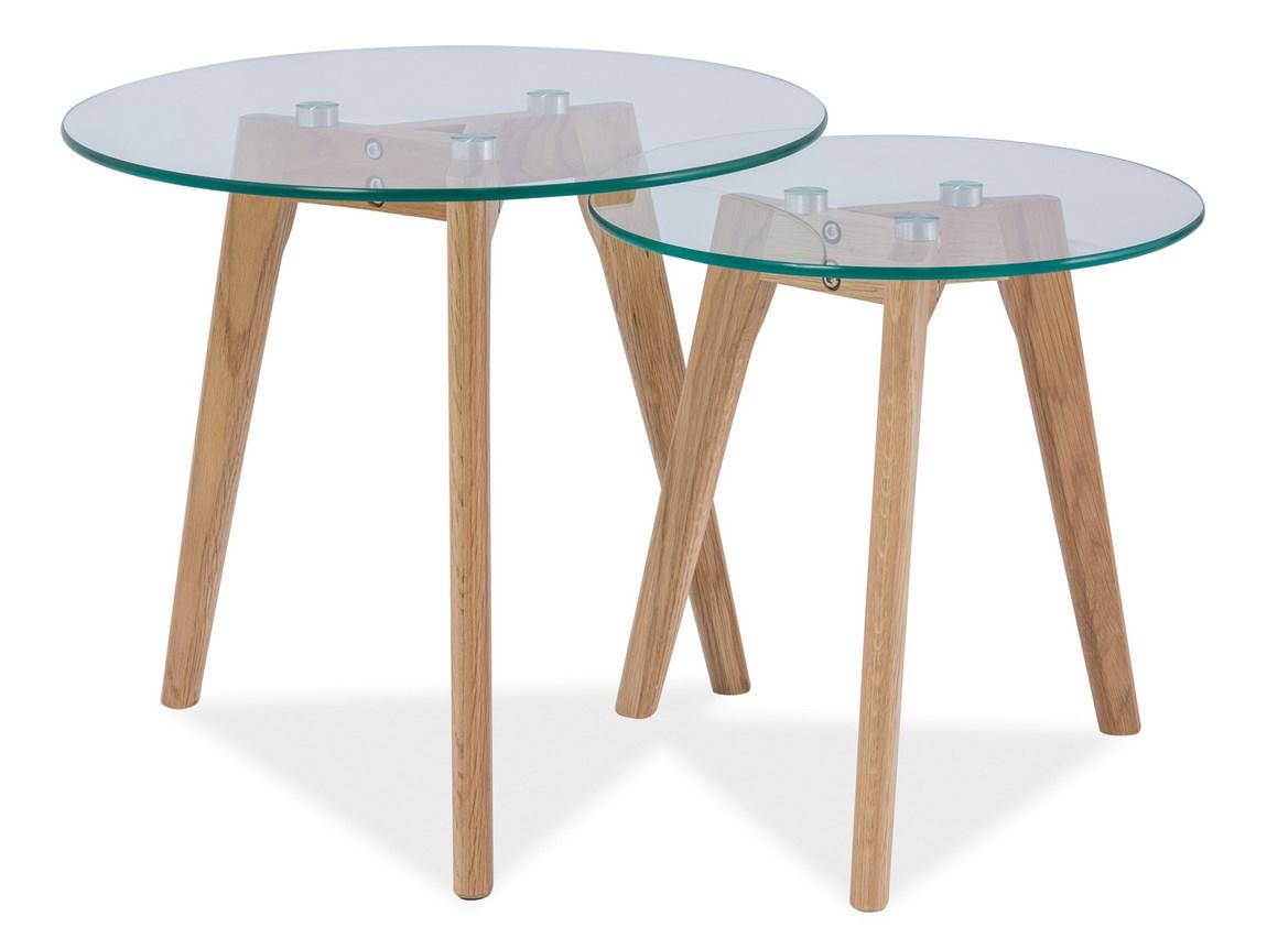 Konferenčné stolíky sestava 2ks OSLO S2