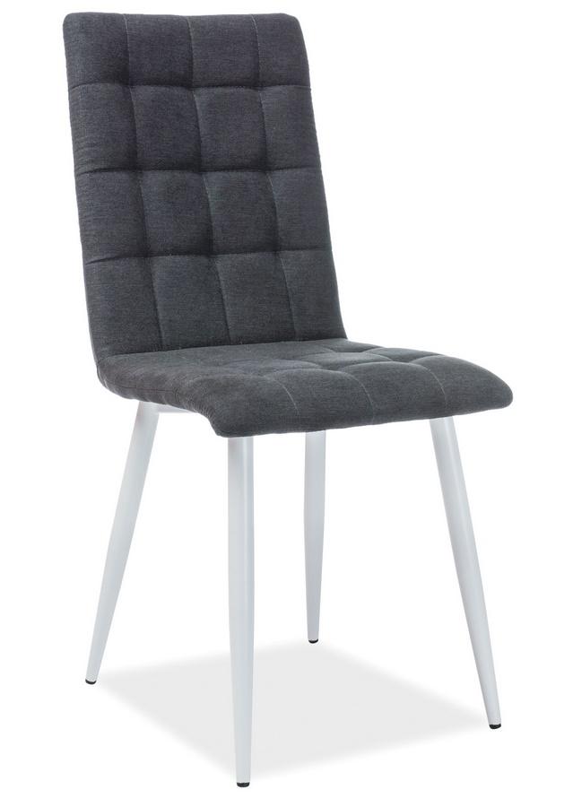 Jedálenská čalúnená stolička OTTO čierna/biela