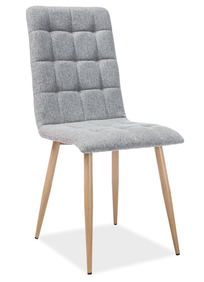 Jedálenská čalúnená stolička OTTO šedá/dub