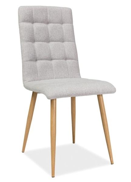 Jedálenská čalúnená stolička OTTO béžová/dub