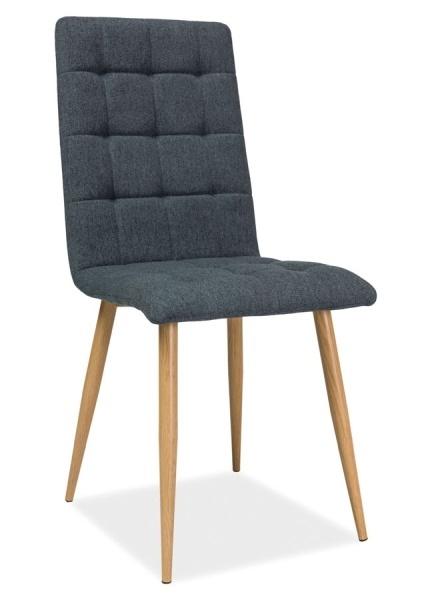 Jedálenská čalúnená stolička OTTO grafit/dub