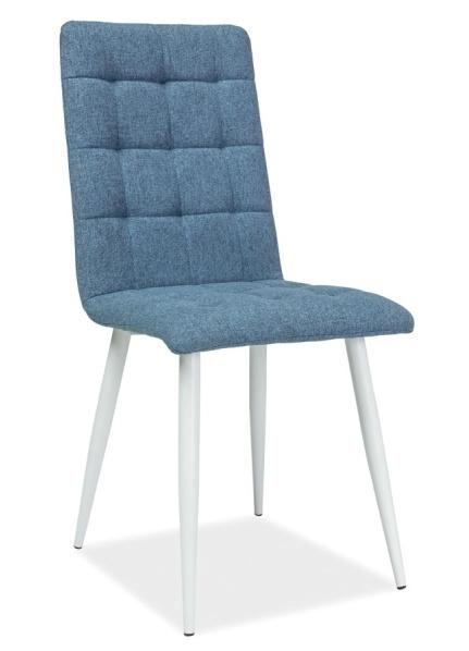 Jedálenská čalúnená stolička OTTO modrá/biela