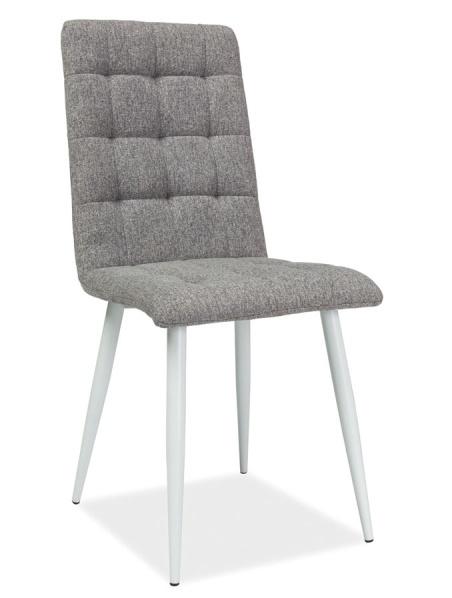 Jedálenská čalúnená stolička OTTO šedá/biela