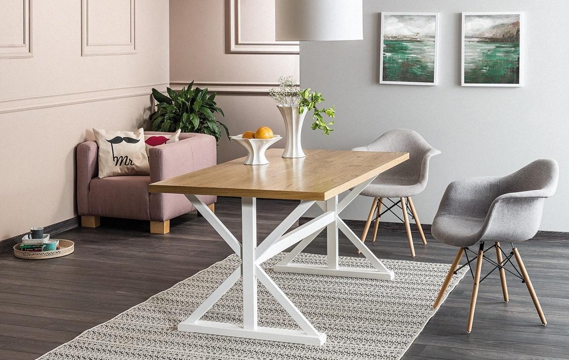 Jedálenský stôl OXFORD 150 biela/dub
