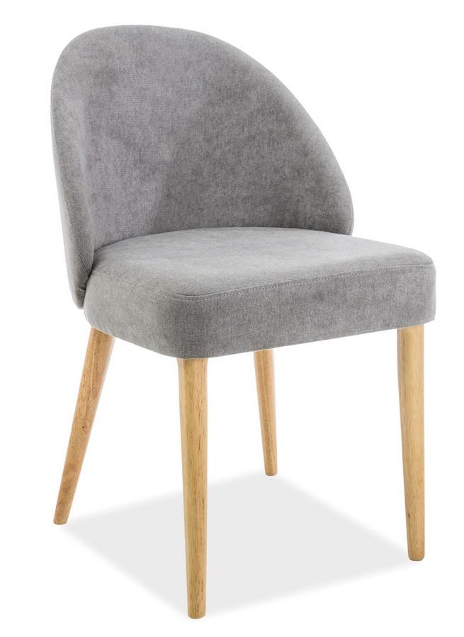 Jedálenská čalúnená stolička OXI šedá/dub