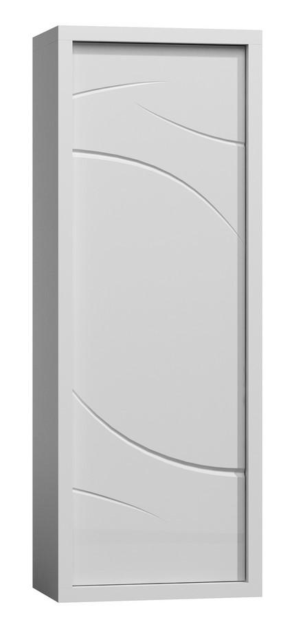 Skříň PARIS P2 bílý lesk/bílá