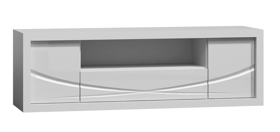 TV stolík PARIS P5 bílý lesk/biela