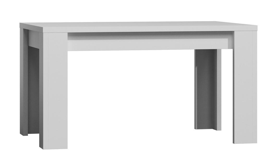 jedálenský stôl rozkládací 120 x 80 PARIS biela