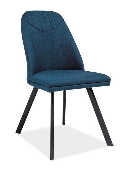 Jedálenská čalúnená stolička PABLO tmavo modrá