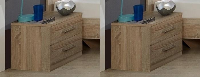 Nočné stolíky (2 kusy) PAMELA 698 řezaný dub