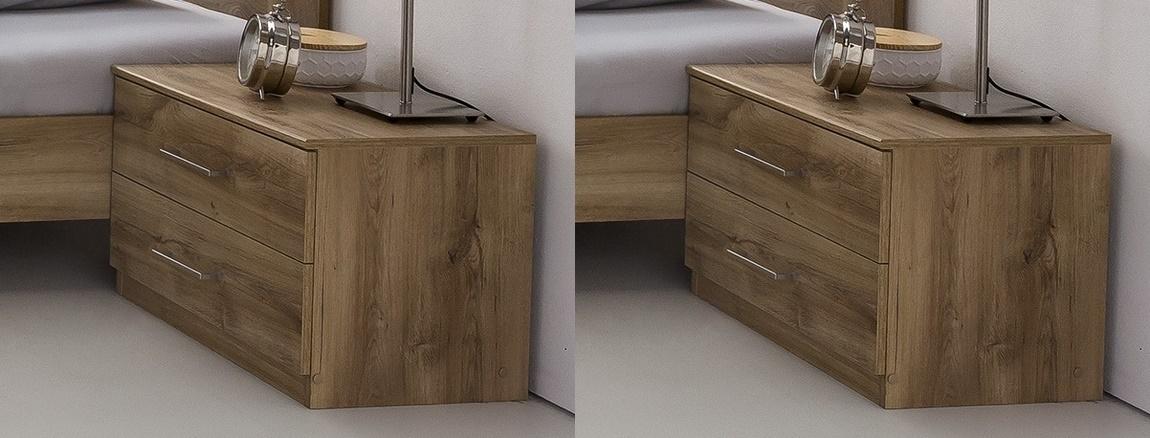 Nočné stolíky (2 kusy) PAMELA 698 divoký dub