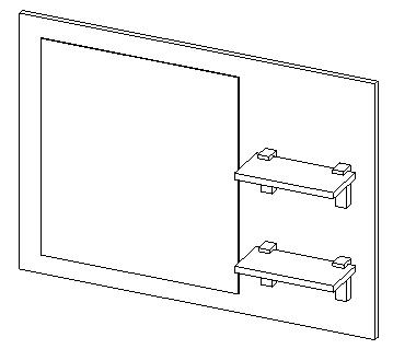 Panel so zrkadlom 90 BONITA II lefkas