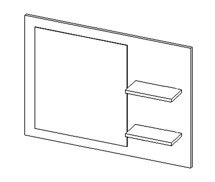 Panel so zrkadlom ARUBA dub sonoma
