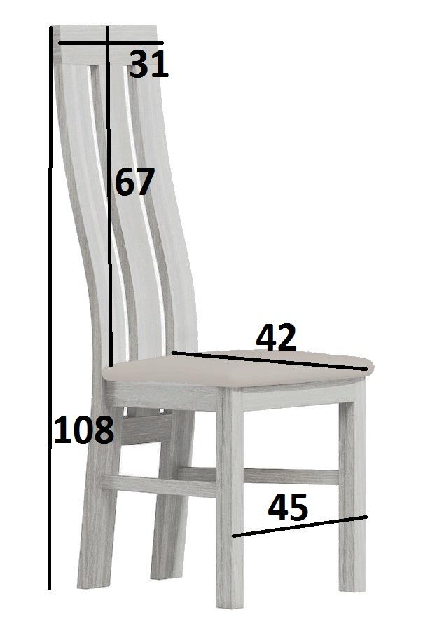 Čalúnená stolička II jasan bílý/Victoria 36