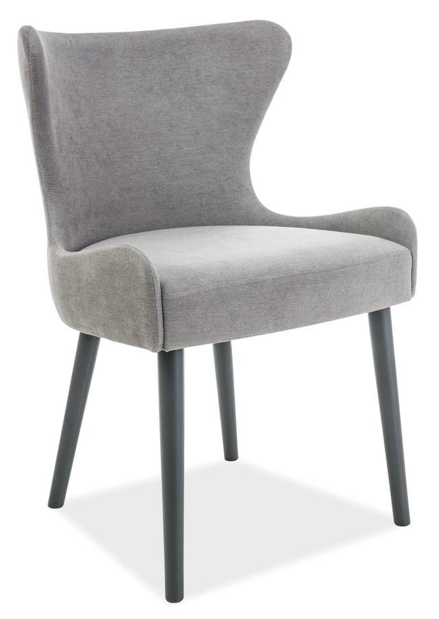Jedálenská čalúnená stolička PASSO šedá/grafit