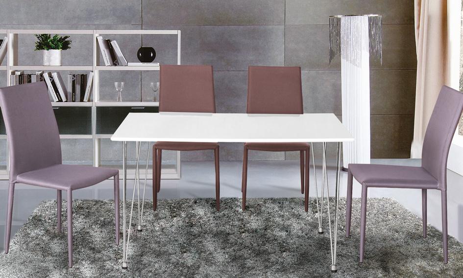 Jedálenský stôl PAULO biela lak