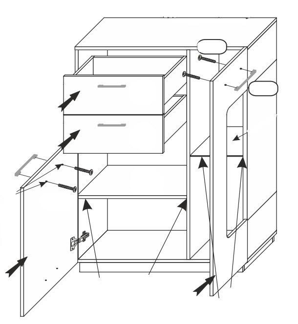 Obývací zostava BONUS (T-02+45+60+52)
