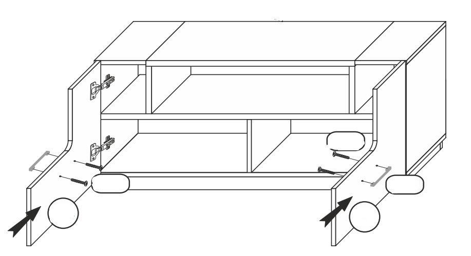 TV stolík BONUS 61 biela/dub wotan