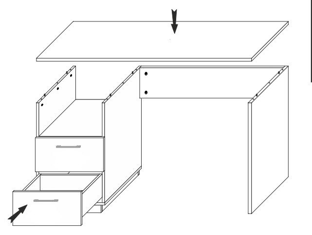 pracovný stôl BONUS 88 biela/dub wotan