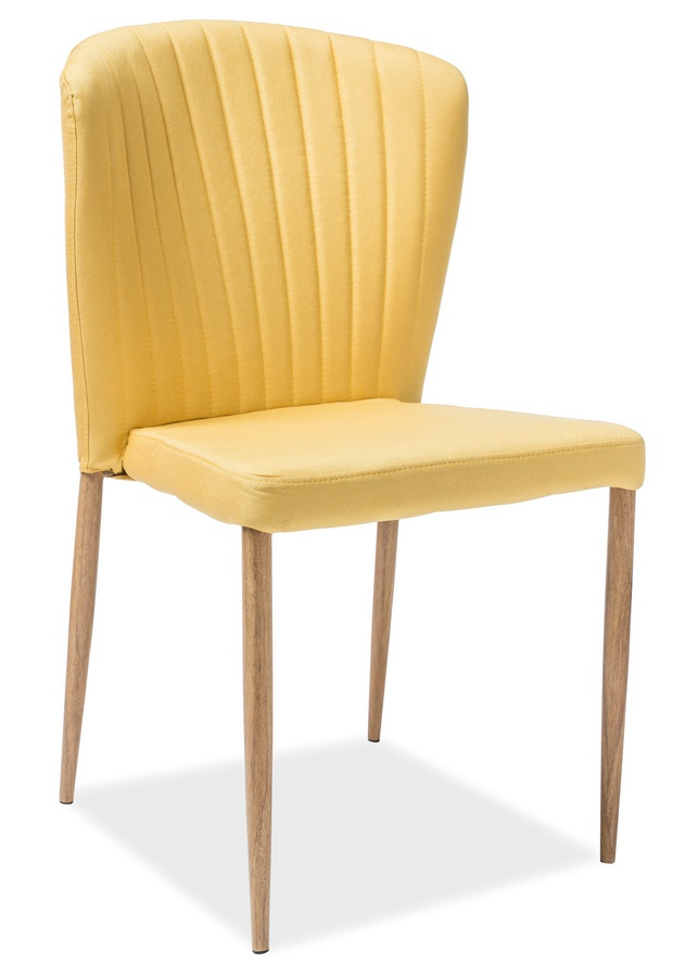 Jedálenská čalúnená stolička POLLY žlta/dub