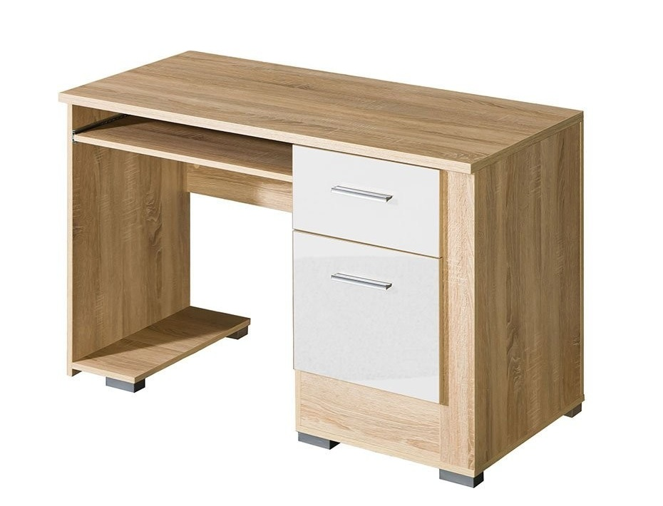 Písaci stôl CARMELO C15 sonoma/biela lesk