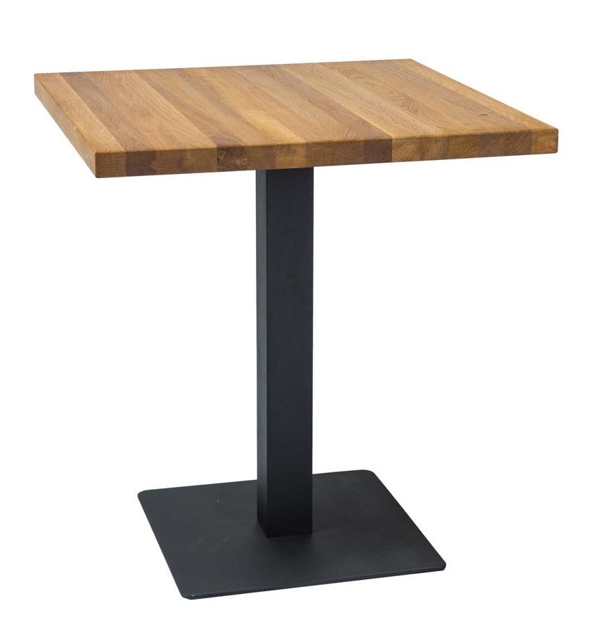 Jedálenský stôl PURO dub masiv 80x80 cm