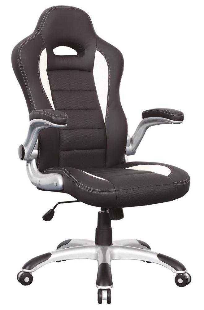 Kancelárske kreslo Q-024 biela/čierna