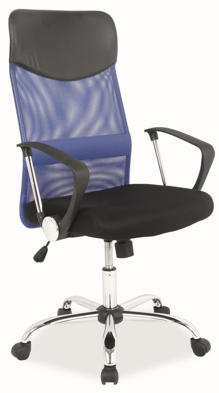 Kancelárska stolička Q-025 modrá/čierna