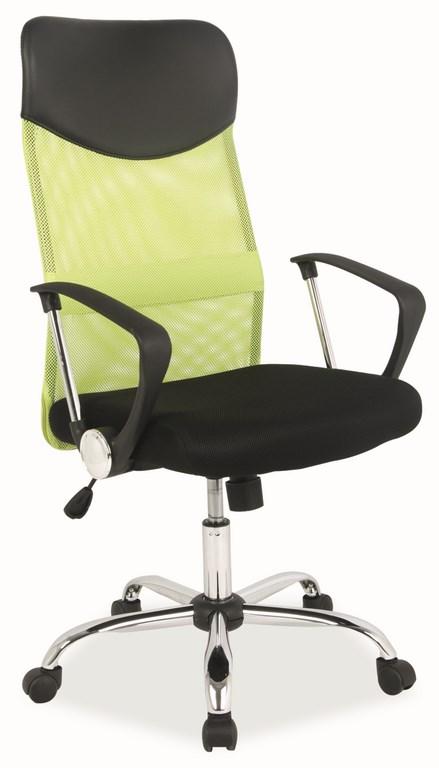 Kancelárska stolička Q-025 zelená/čierna