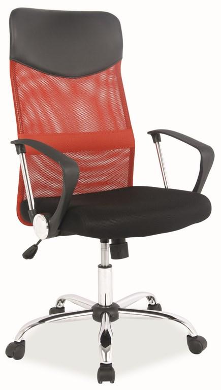 Kancelárska stolička Q-025 červená/čierna