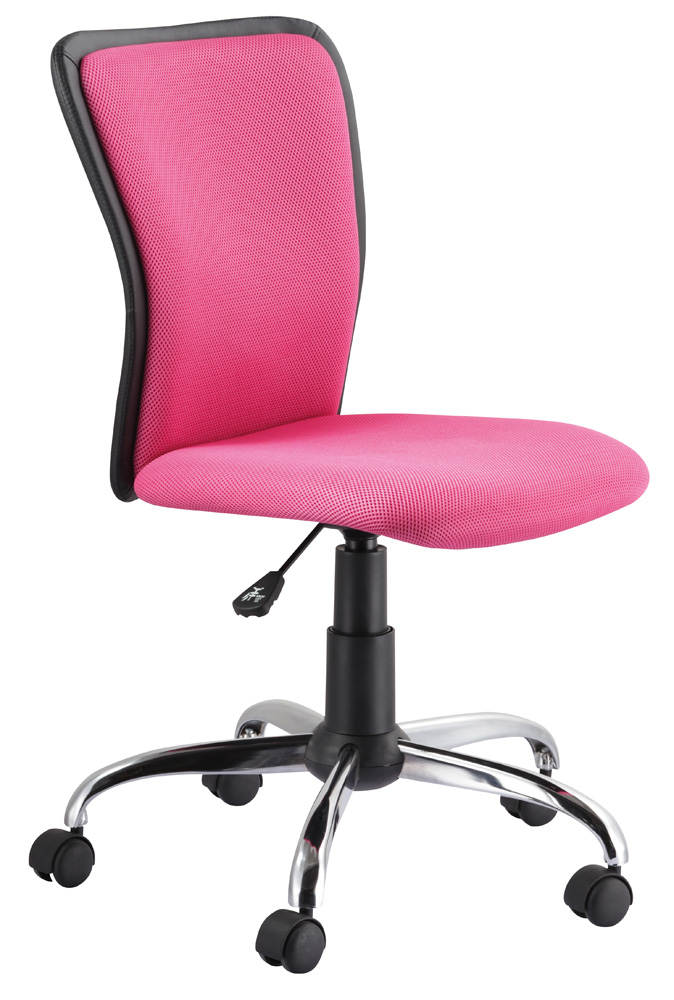 Kancelárska stolička Q-099 růžová/čierna